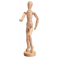1 Pc 5.5/8/12 Inch Painting Sketch Wooden Man Model Artist Movable Limbs Doll Wood Carving Man Wooden Toy Art Draw Action Figure Mannequin Kids Toy