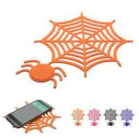 Silicone Gel Anti-slip Mat Spider Web for Mobile Phone GPS Universal