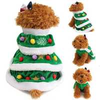 Christmas Festival Tree Pet Dog Cat Coat Puppy Warm Clothes Costumes Apparel Dress