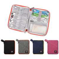 BUBM Small Size Single Layer Waterproof Digital Accessory Storage Bag Earphone Cable Collection Bag