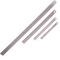 BAOKE 1Pcs 15cm/20cm/30cm/50cm Stainless Steel Straight Ruler Double Scale Student Rulers Painting Drawing Measuring Tool School Office Supplies Stationery