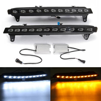 LED Daytime Running Fog Lights DRL White Turn Signal Lamp Yellow 2Pcs for Audi Q7 2007-09