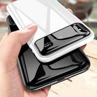 Bakeey Protective Case for iPhone XS 2018 Tempered Glass Lens Protection+PC Glossy Back Cover