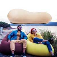 125x60cm Portable Bean Bag Lazy Sofa Adults Kids Beach Chair Lounger Lay Bag Couch Outdoor Travel