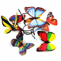 10Pcs 3D Double Pieces Colorful Butterfly Wall Sticker Fridge Magnet Home Decor Art Applique