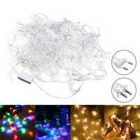 20M Moon Shape EU US Plug Warm White Colorful 200 LED String Fairy Light Holiday Decor AC110V AC220V