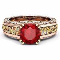 Women's Elegant Rose Gold Hollow Ring Valentine's Day Gift