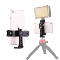 PULUZ PU367 360 Degree Rotating Universal Phone Metal Clamp Clip Holder Bracket for iPhone Galaxy Huawei Xiaomi Sony for HTC Google Smartphones
