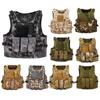 Outdoor Tactical Military Vest Sports Hunting Hiking Climbing Plate Carrier Paintball Combat Vest