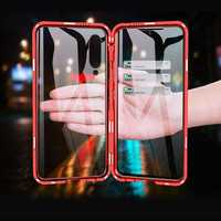 Bakeey 360º Front+Back Double-sided Full Body 9H Tempered Glass Metal Magnetic Adsorption Flip Protective Case For Xiaomi Mi 9 / Xiaomi Mi9 Transparent Edition
