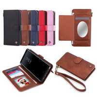 POLA Magnetic Detachable Wallet Card Slots Case With Mirror For Samsung Galaxy Note 8/S8 Plus/S8/S7 Edge/S7