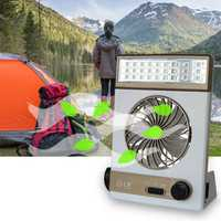 SUBUTE Fan Solar Camping Light LED Lamp Flashlight USB Charging Mini Portable Outdoors Camp Travel