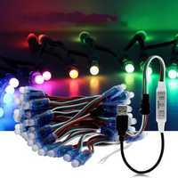 5M 50PCS WS2811 RGB IP68 Full Color LED Pixel Module Strip Light with 3keys Controller DC5V