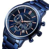 MINI FOCUS MF0188G Business Style Steel Men Quartz Watch