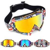 Skiing Goggles Snowboard Ski Eyewear Anti-UV Glasses For Motorcycle Motocross Lens
