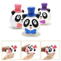 1PC 14CM Jumbo Panda Cake Squishy Charm Soft Slow Rising Mobile Phone Accessories Toy