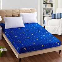 Honana WX-04 Fashionable Start Sheet Mattress Cover Printing Bedding Linens Bed Sheets With Elastic Band