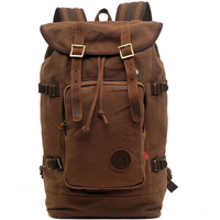 Men Canvas Casual Retro Travel Outdoor Shoulders Computer Bag Backpack
