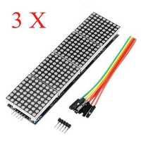 3Pcs MAX7219 Dot Matrix Module 4-in-1 Display Screen For Arduino
