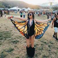Honana WX-90 Butterfly Wing Bohemian Chiffon Beach Women Shawl Skirt Beach Decor Tapestry