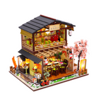 Recommandé Homeda M2011 Japanese-style Sushi Restaurant DIY Doll House Assembly Cabin Creative Toy With Dust Cover Indoor Toys
