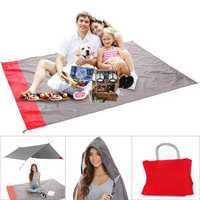 KCASA KC-PPAL 200cm Portable Camping Mat With Pocket Folding Waterproof Outdoor Picnic Beach Mat Baby Play Blanket