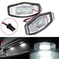2x LED License Plate Light For Honda Civic Accord Odyssey Pilot Acura TL TSX MDX