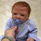 Meilleurs prix Lifelike 20'' Reborn Baby Handmade Soft Vinyl Newborn Doll Accompany Baby Toys