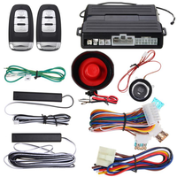 Hopping Code PKE Car Alarm System W Keyless Entry Remote Start Push Button Start