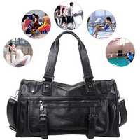 Outdoor Sports Men Leather Bag Travel Duffle Gym Large Capacity Luggage Handbag Bags