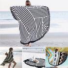 Acheter Honana WX-992 150cm Bohemian Style Thin Tassel Beach Towel Mandala Round Silk Scarf Bed Sheet Tapestry