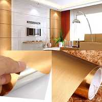 60cmx3m Durable Brushed Contact Wall Paper Peel Wall Sticker Tear Resistant PVC Decor