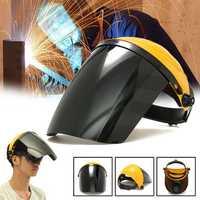 Adjustable Welding Helmet ARC TIG MIG Welding Lens Grinding Mask + Safety Goggles