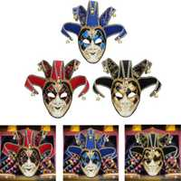 Red Black Blue Clown Mask Halloween European American Atmosphere Dress Mask