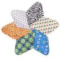 6Pcs 14'' Reusable Charcoal Bamboo Cloth Menstrual Sanitary Pads Panty Liner Maternity Mama Pads