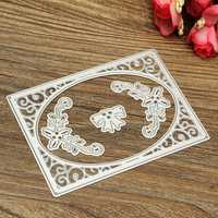 4 in 1 8x11.3cm Frame Flower Bowknot Scrapbook Photo Album Paper Work Card DIY Cutting Dies