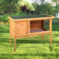 Wooden Rabbit Hutch Waterproof Indoor Outdoor Rabbit House Chicken Coop Hen House Poultry Pet Cage Bed