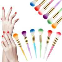 1Pc Gold Colorful Acrylic UV Gel Nail Art Builder Brush