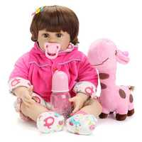 NPK Doll 22'' Reborn Silicone Handmade Lifelike Realistic Newborn Baby Toy For Girls Birthday