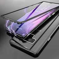 Luphie Magnetic Adsorption Aluminum Tempered Glass Protective Case For Samsung Galaxy Note 9