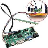 LCD Controller Board 40P 8-bit HD DVI VGA Audio PC Module Kit For B156XW02 15.6 Inch Display