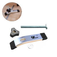 Aluminum Alloy Quick Acting Hold Down Clamp T-Slot T-Track Clamp Set T Nut Screw Type Woodworking Tool