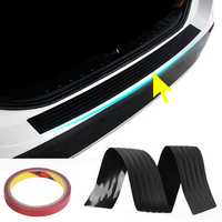 104cm PVC Rubber Rear Bumper Sill Protector Plate Cover Guard Pad Moulding for VW/Audi/BMW SUV