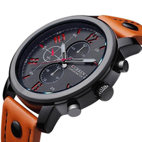 CURREN 8192 Fashion Leisure Sportsman Leather Quartz Watch