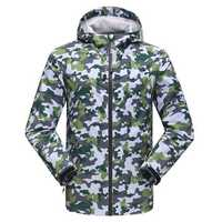 Mens Waterproof Outdooors Jacket Sunscreen Riding Camouflage Breathable Quick Drying Skin Coat