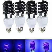 UV Ultraviolet Spiral Low Energy Saving CFL Light Bulb E27 Screw Black Light Bulb