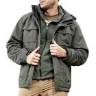 Recommandé Mens Outdoor Military Waterproof Sport 2 in 1 Jacket Casual Multi Pockets Work Coat