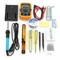 110V/220V 60W Adjustable Temperature Welding Solder Soldering Iron Multi Meters Toolkits