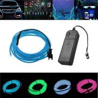 Battery Powered 3M 8 Colors Flexible Bendable Neon EL Wire Light for Dance Party Decor DC3V