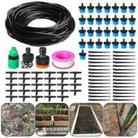 94Pcs 25 Meters DIY Plant Self Watering Micro Drip Irrigation System Garden Hose